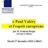 Paul Valéry et l'esprit européen