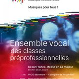Ensemble vocal classes prépro du Conservatoire