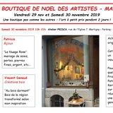 Petite boutique de Noël des Artistes: offrir l'ART