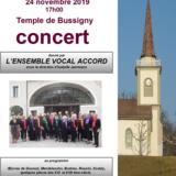 Concert donné par l'Ensemble Vocal Accord