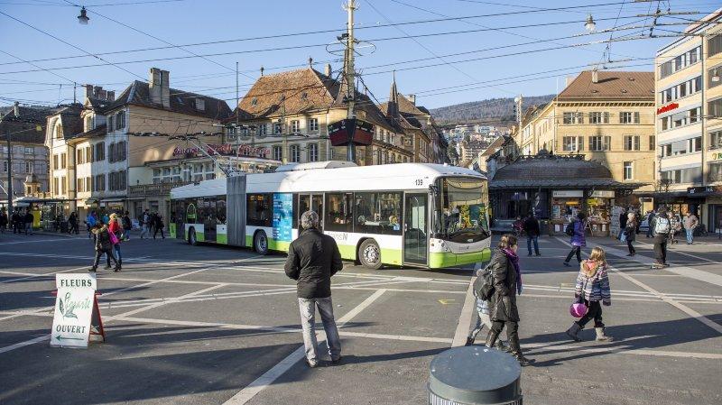 Travaux nocturnes au centre-ville de Neuchâtel