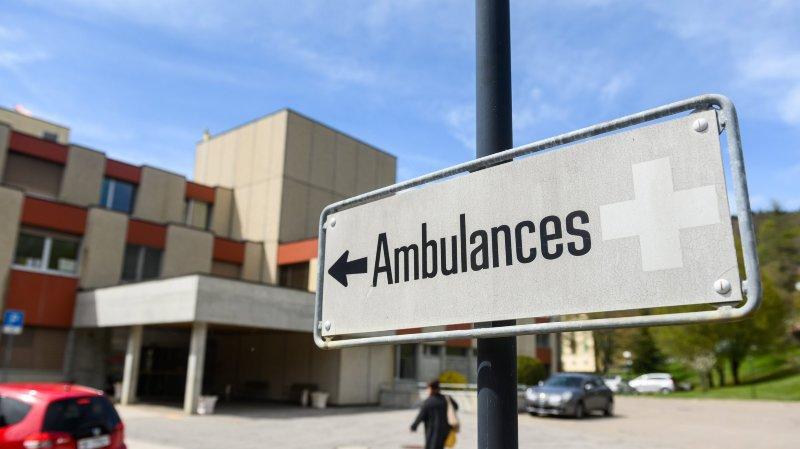 Blessée, la piétonne a été conduite à l'hôpital de Couvet.