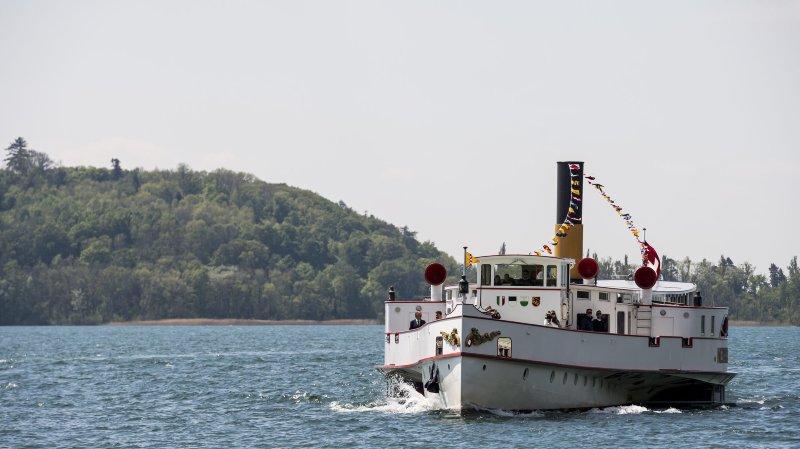 Fréquentation record pour le bateau à vapeur «Neuchâtel»