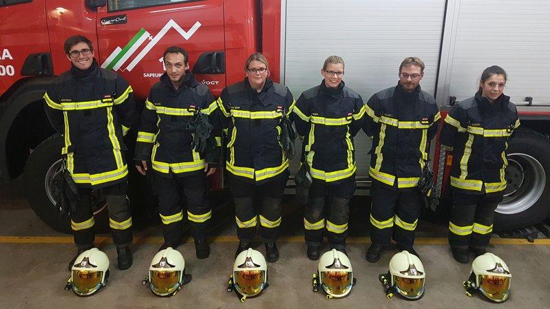 Huit nouveaux sapeurs-pompiers au Val-de-Travers