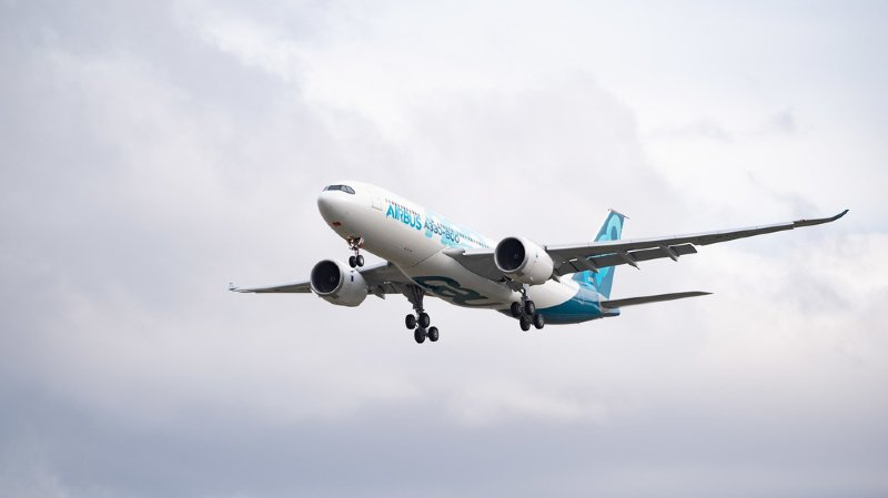 """Un porte-parole d'Airbus a confirmé à l'AFP que la pièce était """"bien une pièce d'un avion Airbus"""". """"Une enquête est en cours"""", a-t-il indiqué. (illustration)"""