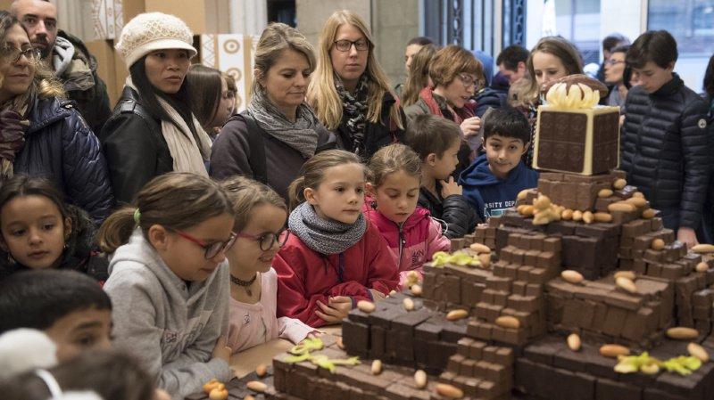 Le temple aztèque en chocolat avait été l'un des points forts de la précédente édition de Chocolatissimo.