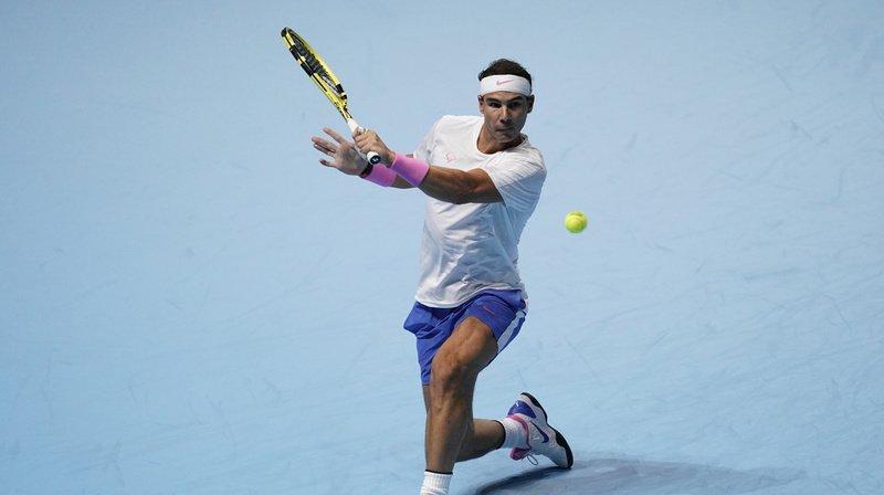 Tennis - Masters de Londres: Nadal bat Tsitsipas et pourrait affronter Federer en demie