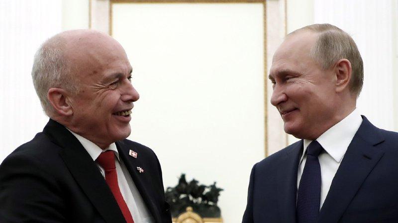 Suisse/Russie: Ueli Maurer reçu par Vladimir Poutine à Moscou