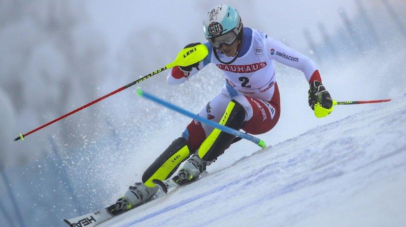 Wendy Holdener est la meilleure Suissesse après la première manche. Mais elle pointe à plus d'une seconde et demie de Petra Vlhova.