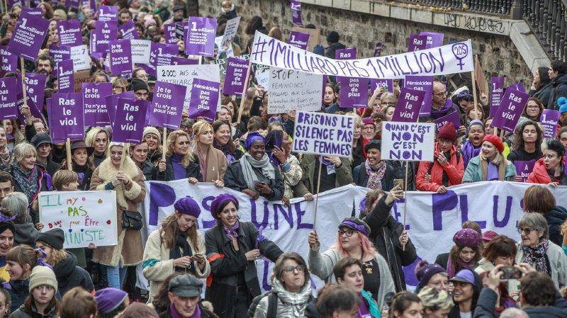 Violences faites aux femmes: 49'000 manifestants à Paris