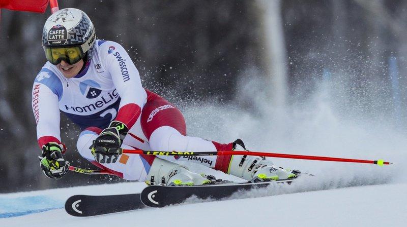 Wendy Holdener, 3e à l'issue de la première manche du slalom de Killington, a enfourché lors de la deuxième.