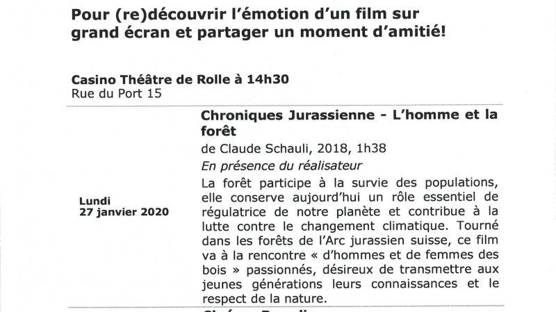 Ciné-seniors Rolle - Chroniques Jurassienne