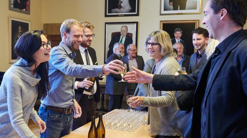Les élus neuchâtelois à Berne ont arrosé leur départ du Grand Conseil