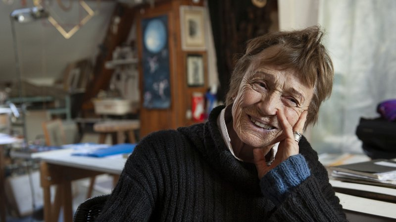 Anne Monnier, dans son atelier.
