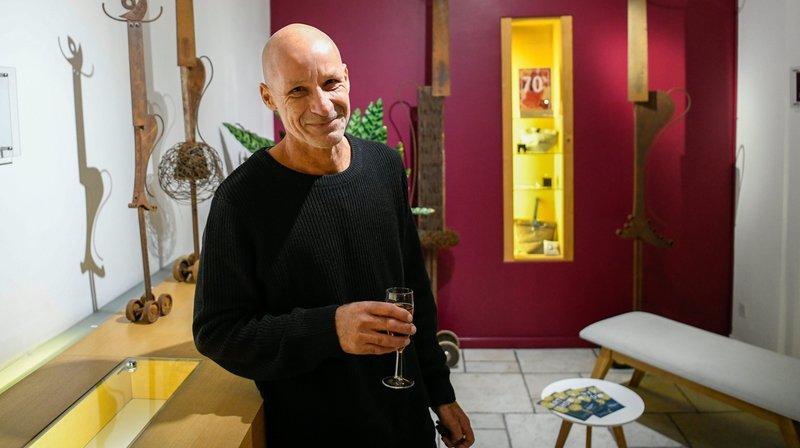 Arty Show offre des espaces artistiques dans les commerces de Neuchâtel, à l'instar de celui proposé pour les réalisations d'Yvan Freymond.