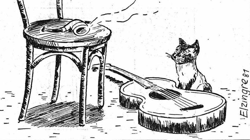 L'hommage du dessinateur Elzingre à Georges Brassens dans «L'Impartial» du 1er novembre 1981.