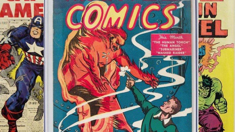 Culture: prix record pour la toute première bande dessinée Marvel, mise aux enchères