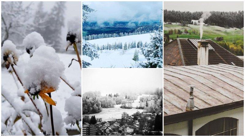 La première neige est tombée sur notre région.