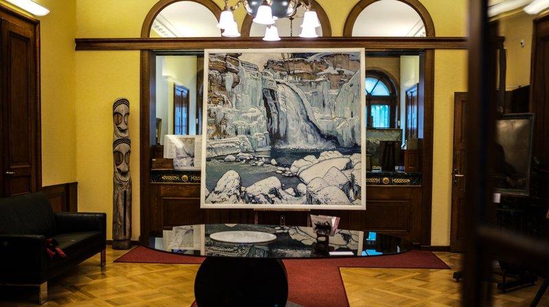 Un célèbre tableau de L'Eplattenier de passage à Neuchâtel