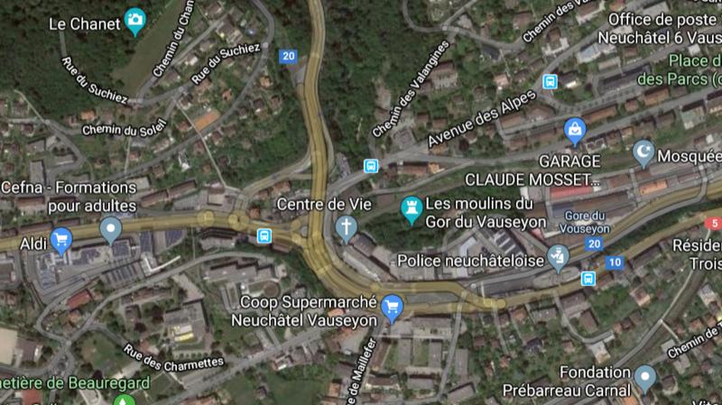 Vauseyon: fermeture nocturne de la bretelle de sortie en direction de La Chaux-de-Fonds