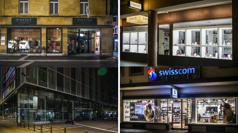 Et si on éteignait les vitrines la nuit dans le canton de Neuchâtel?