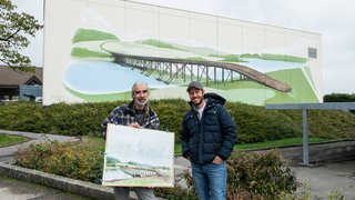 La fresque du pont celtique veille désormais sur Cornaux