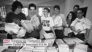 30e anniversaire de l'initiative «Pour une Suisse sans armée»