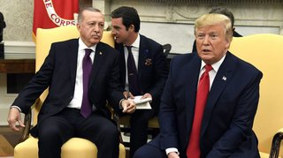 Trump reçoit  «son ami» Erdogan