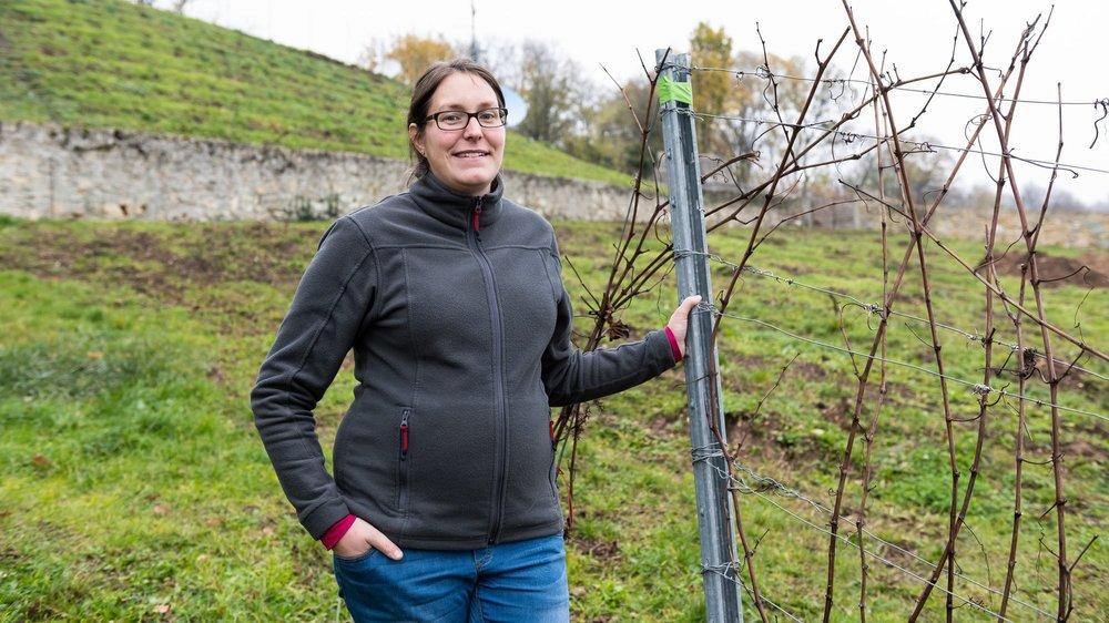 Sophie Porret et son frère Martin ont décidé de replanter du pinot noir sur le bas de la parcelle des Peleuses, qui a été arrachée à Boudry.