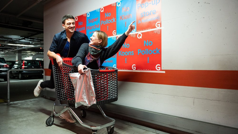 Corinna Weiss, directrice de QG, et Jean-Pablo Mühlestein, coordinateur du Super Marché, ne reculent devant aucun sacrifice pour promouvoir leur événement.