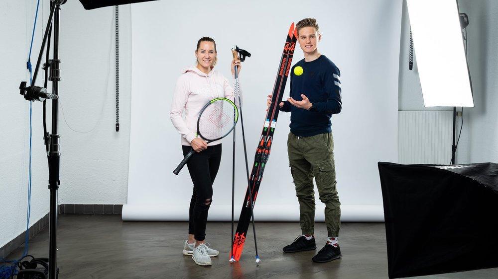 Conny Perrin et de Ilan Pittier: du tennis au ski de fond et inversement.
