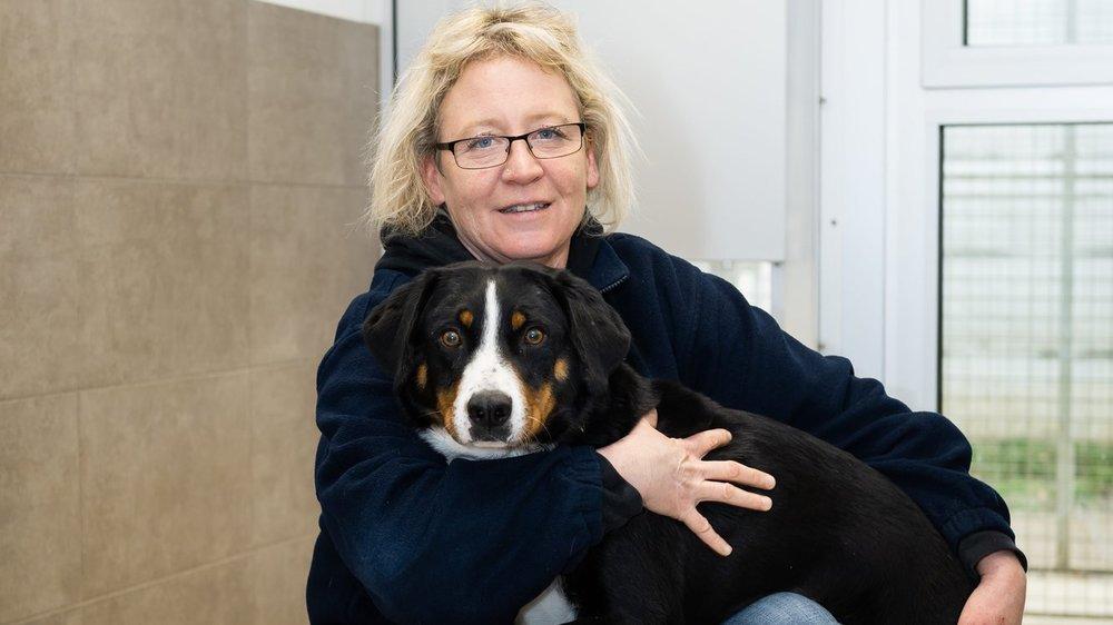 Carole Andrey, l'une des responsables du refuge de Cottendart.