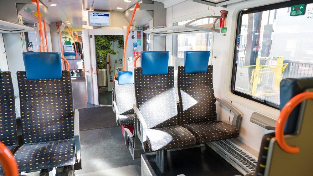 Une nouvelle rame Flirt plus confortable pour la navette ferroviaire entre Neuchâtel et Frasne, vers le TGV de Paris, depuis le 1er janvier.