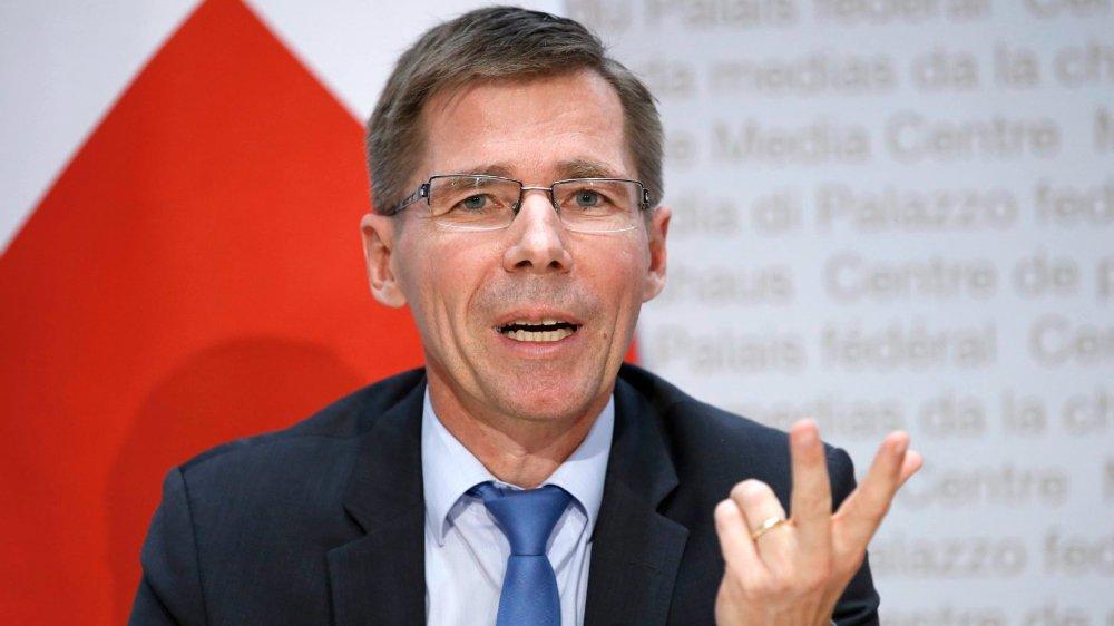 Joël Mesot a été nommé à la tête de l'EPFZ en octobre2018, par l'ancien ministre Johann Schneider-Ammann.