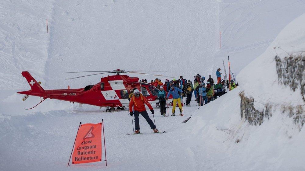 L'avalanche a emporté six  personnes.