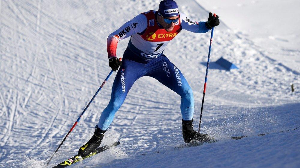Dario Cologna lors de la troisième étape du dernier Tour de ski à Tschierv, dans les Grisons, en début d'année.