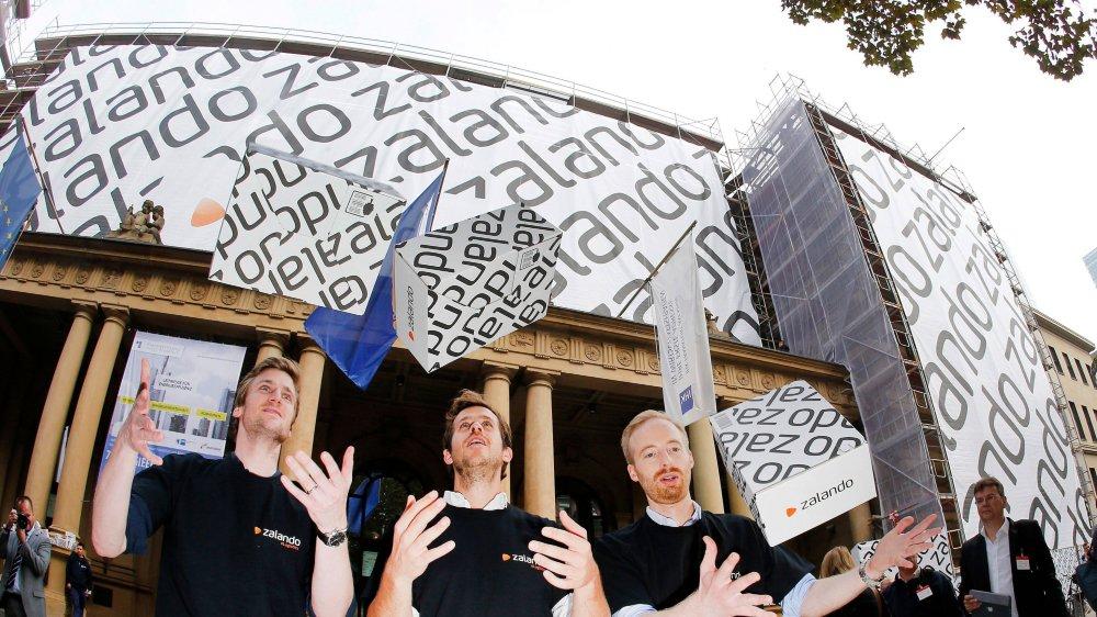 Le 1eroctobre2014, les trois fondateurs de Zalando faisaient entrer leur entreprise en bourse.