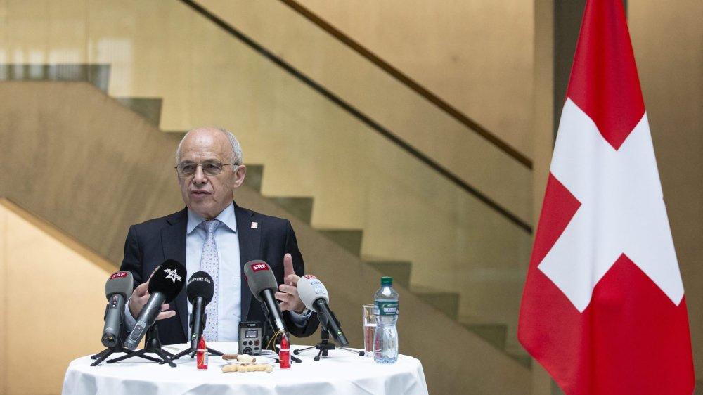 Ueli Maurer a défendu son bilan présidentiel hier dans une conférence de presse.