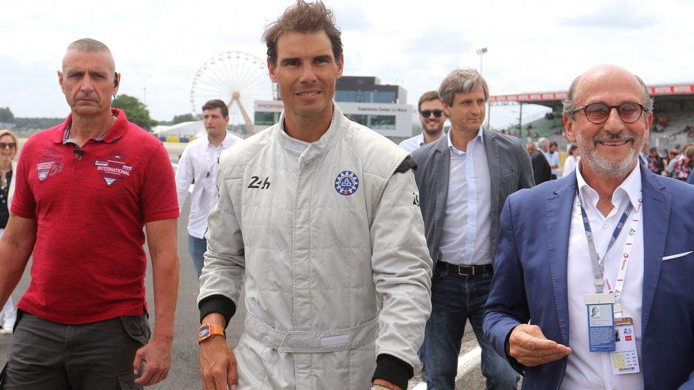 Richard Mille (à droite)  avec le tennisman Rafael Nadal aux 24Heures du Mans en 2018.