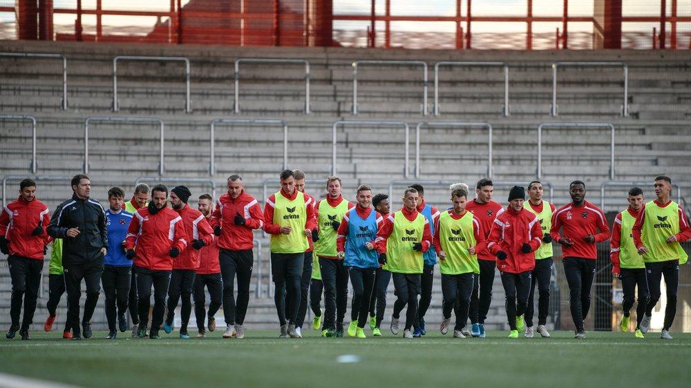 Les joueurs de Xamax on retrouvé le stade de la Maladière samedi après-midi.