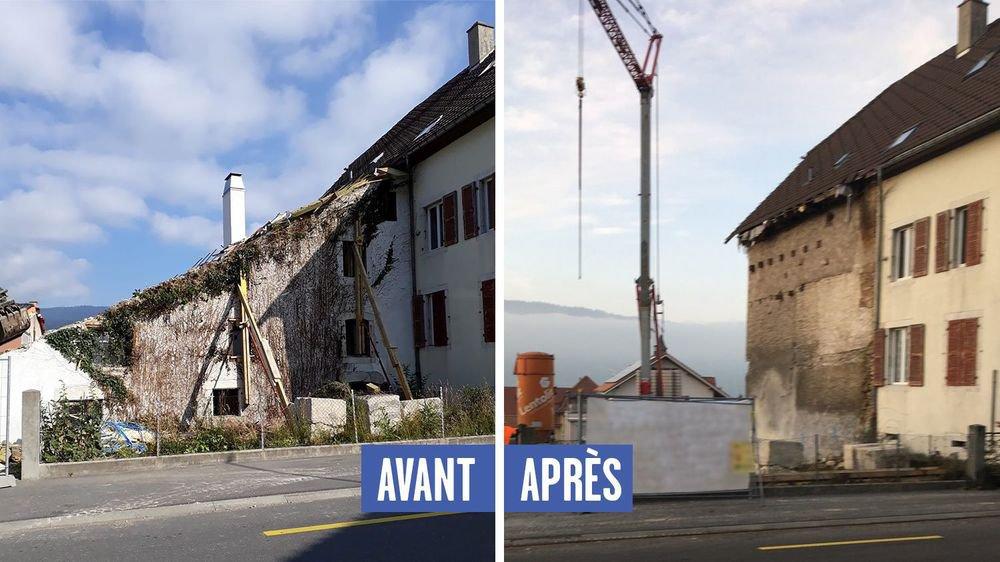Selon le permis de construire délivré en septembre dernier, la façade de cette vieille bâtisse du 17e siècle devait être conservée.