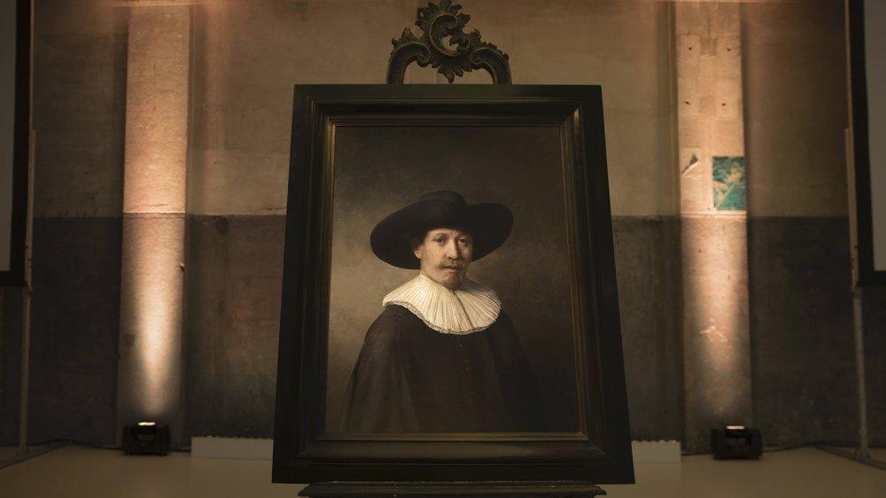 «The Next Rembrandt», le fameux Rembrandt créé par intelligence artificielle en 2016.