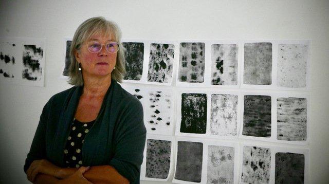 Catherine Louis revient de trois mois de résidence d'artistes, à Gênes, après avoir décroché une bourse.