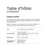 """Table d'hôtes """"Casse-croûte"""""""