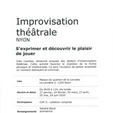 Improvisation théâtrale