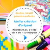 Atelier créatif parents-enfants création d'origami