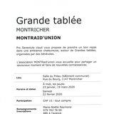 Table régionale pro senectute - MONTRaid'union