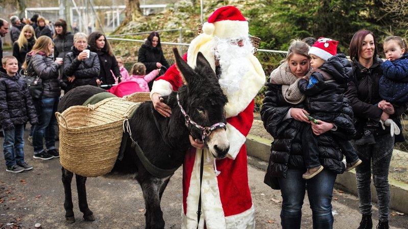 Le père Noël et son âne seront de la partie dimanche au Bois du Petit-Château.