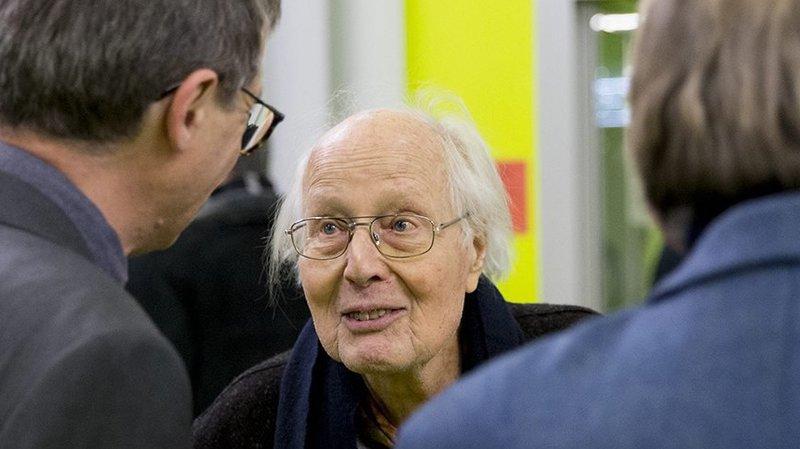 Edgar Tripet en décembre 2018, lors d'une cérémonie organisée en son honneur par le Conservatoire neuchâtelois.