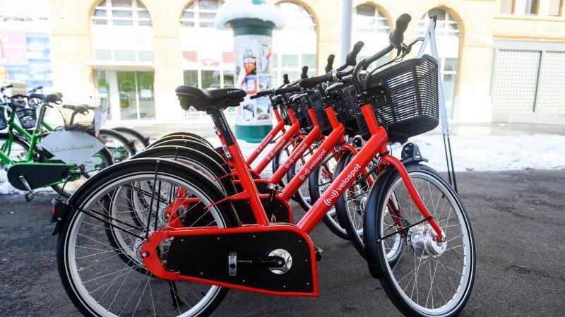 Les vélos en libre-service hybrides à La Chaux-de-Fonds.